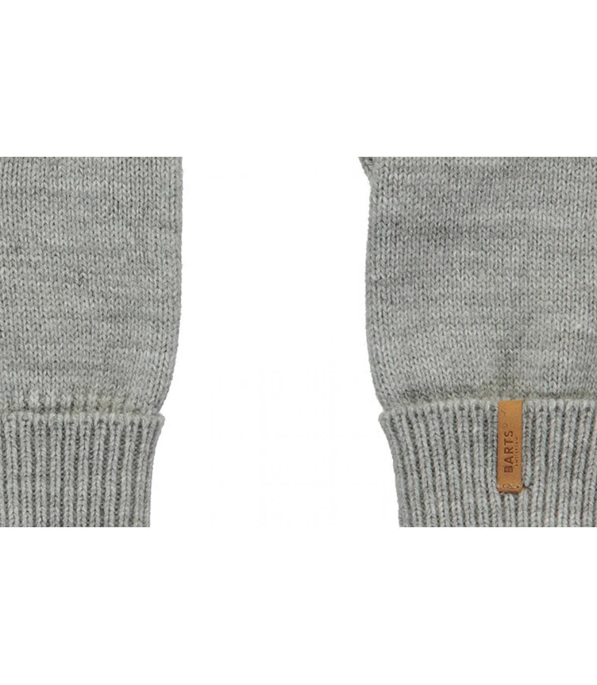 Detalles Fine Knitted Gloves heather grey imagen 2