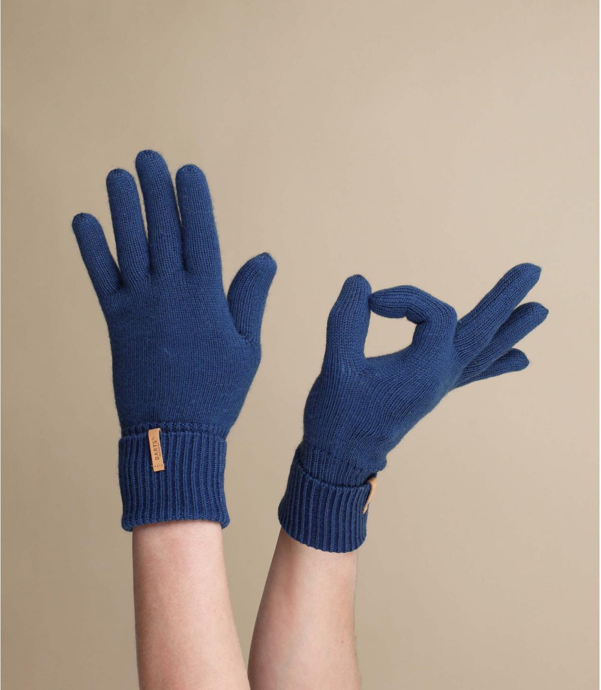 guantes azul marino