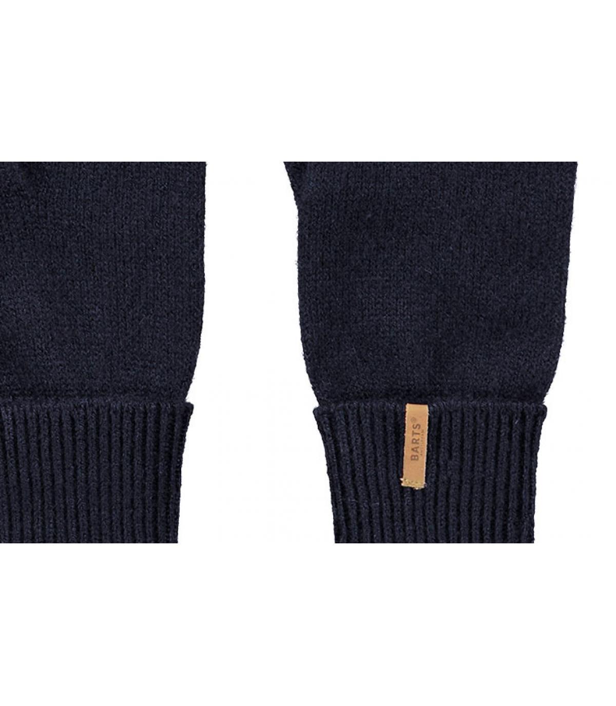 Detalles Fine Knitted Gloves navy imagen 2