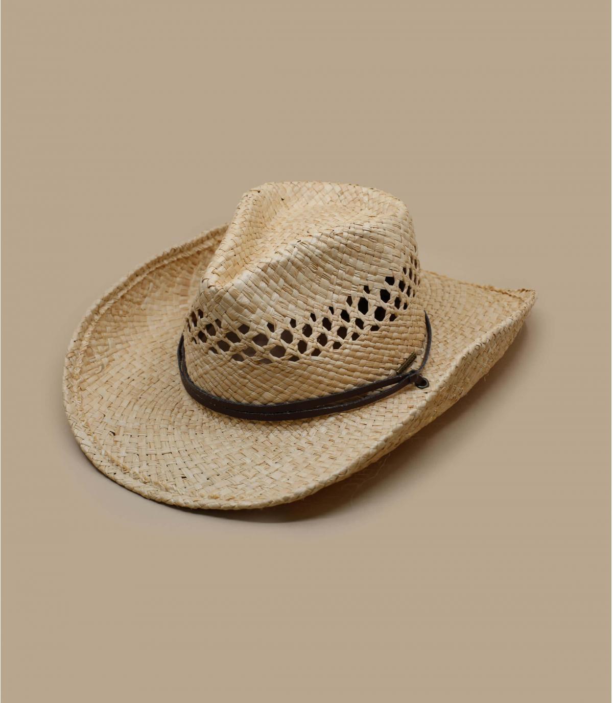 660777b3f5892 Sombrero Cowboys paja Stetson. Detalles Sombrero Larimore raffia imagen 4   Detalles Sombrero Larimore raffia imagen 1 ...