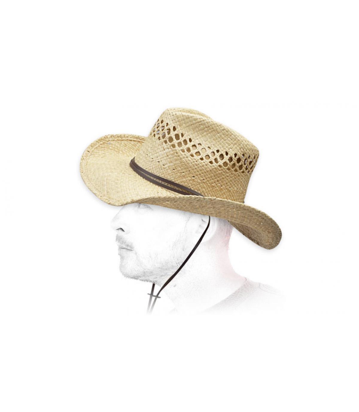Detalles Sombrero Larimore raffia imagen 4