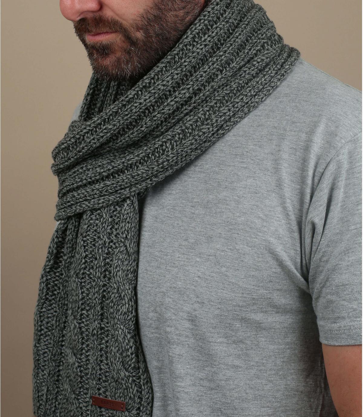 bufanda trenza gris