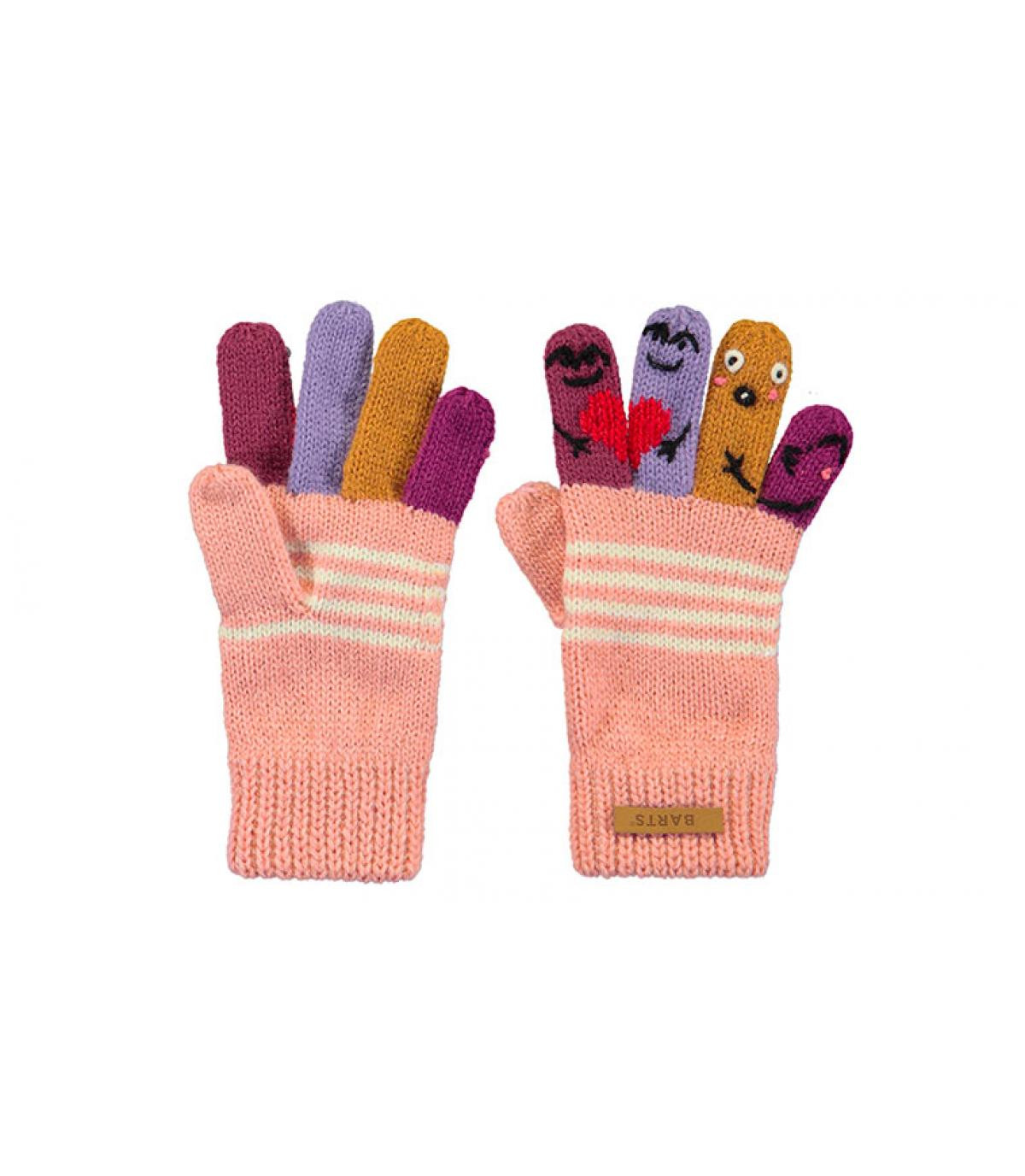 guantes niño marionetas rosa