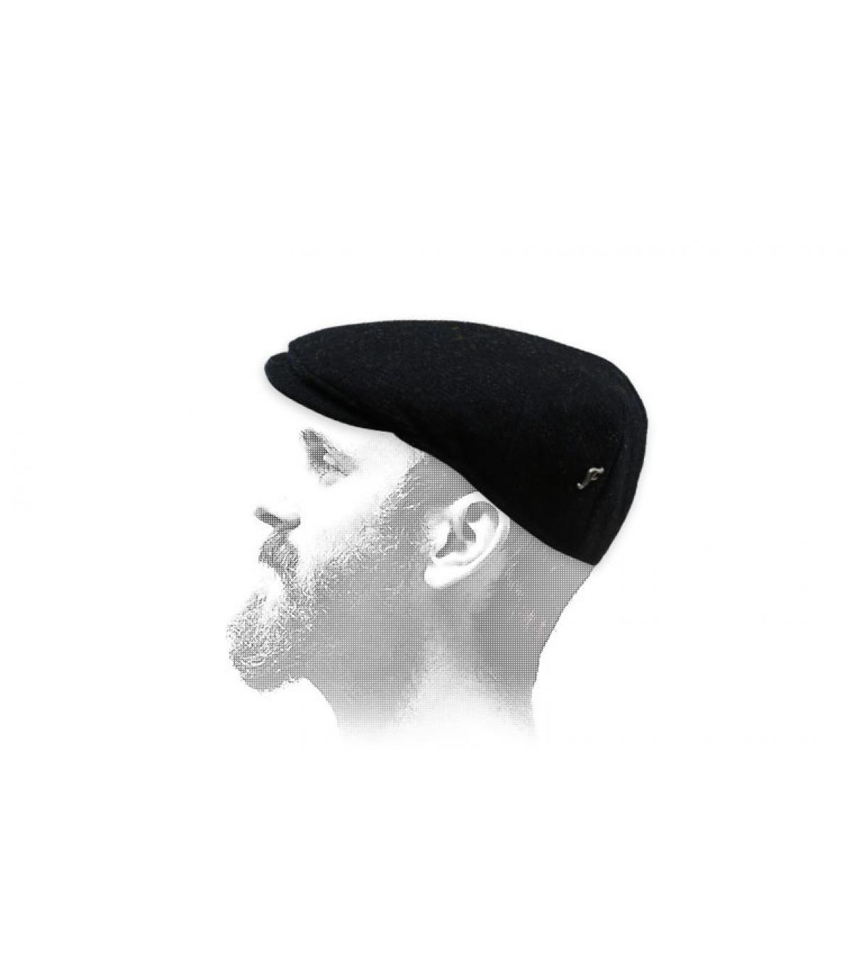 gorra negra tweed Fléchet