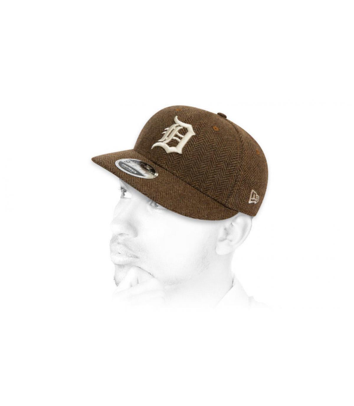snapback D tweed marrón