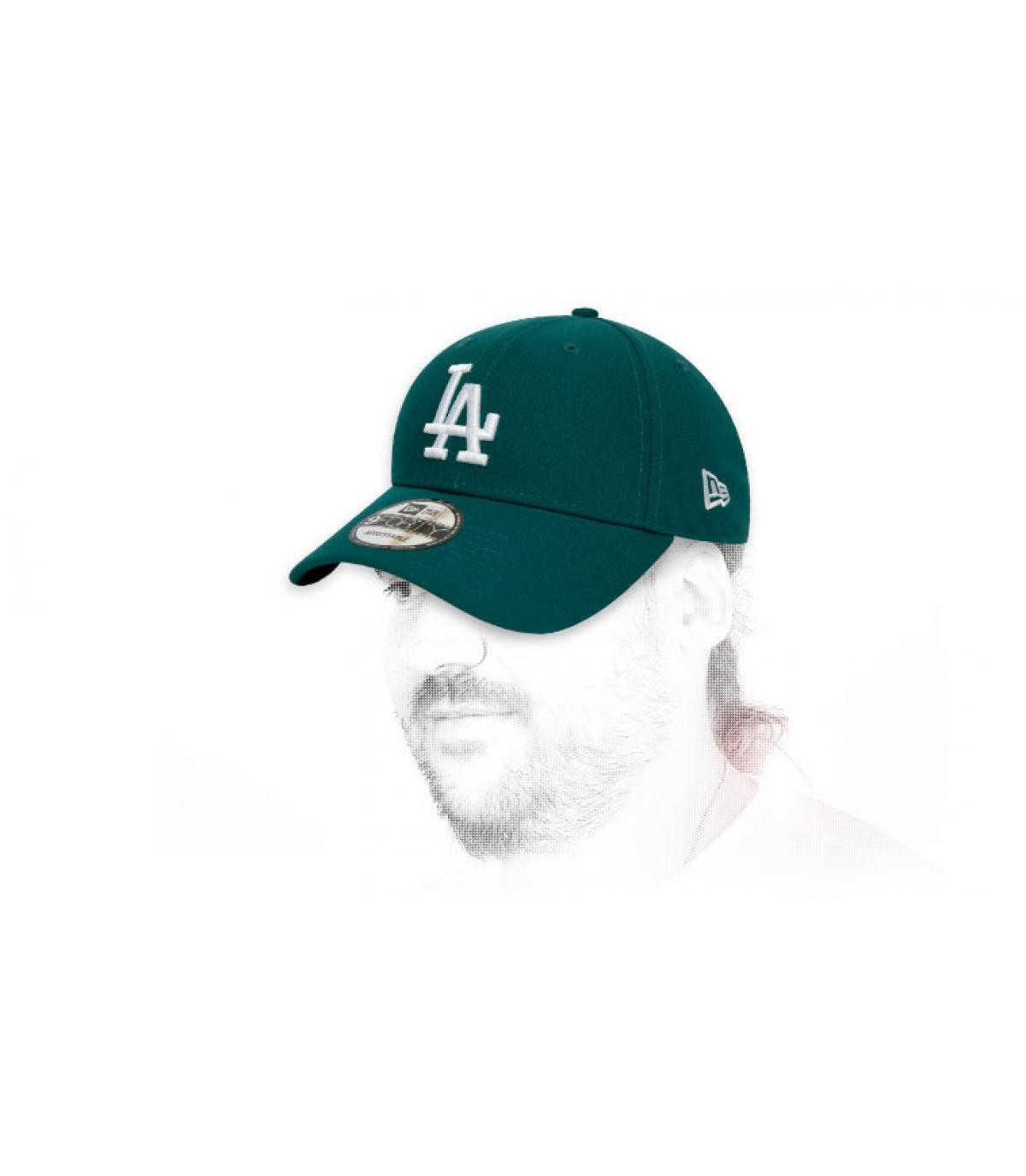 gorra LA verde blanco