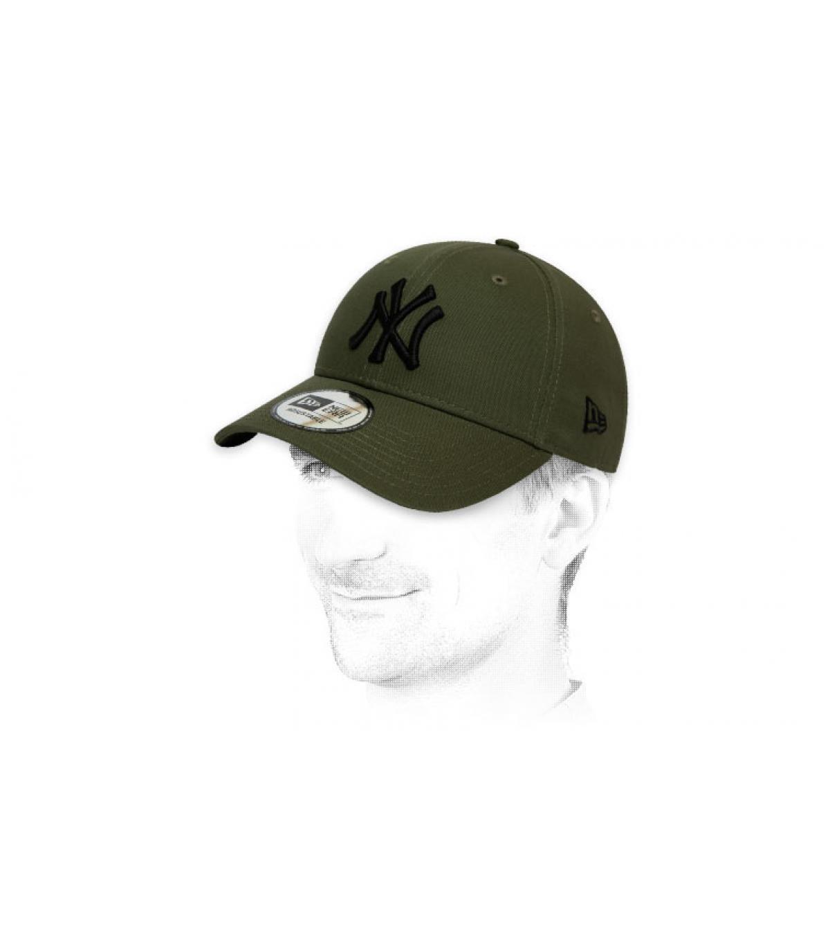 gorra NY verde negro