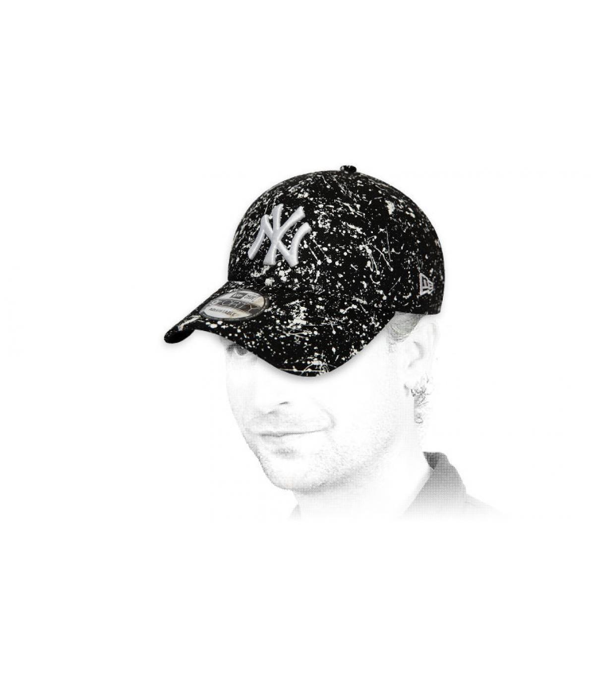 gorra NY estampado negro