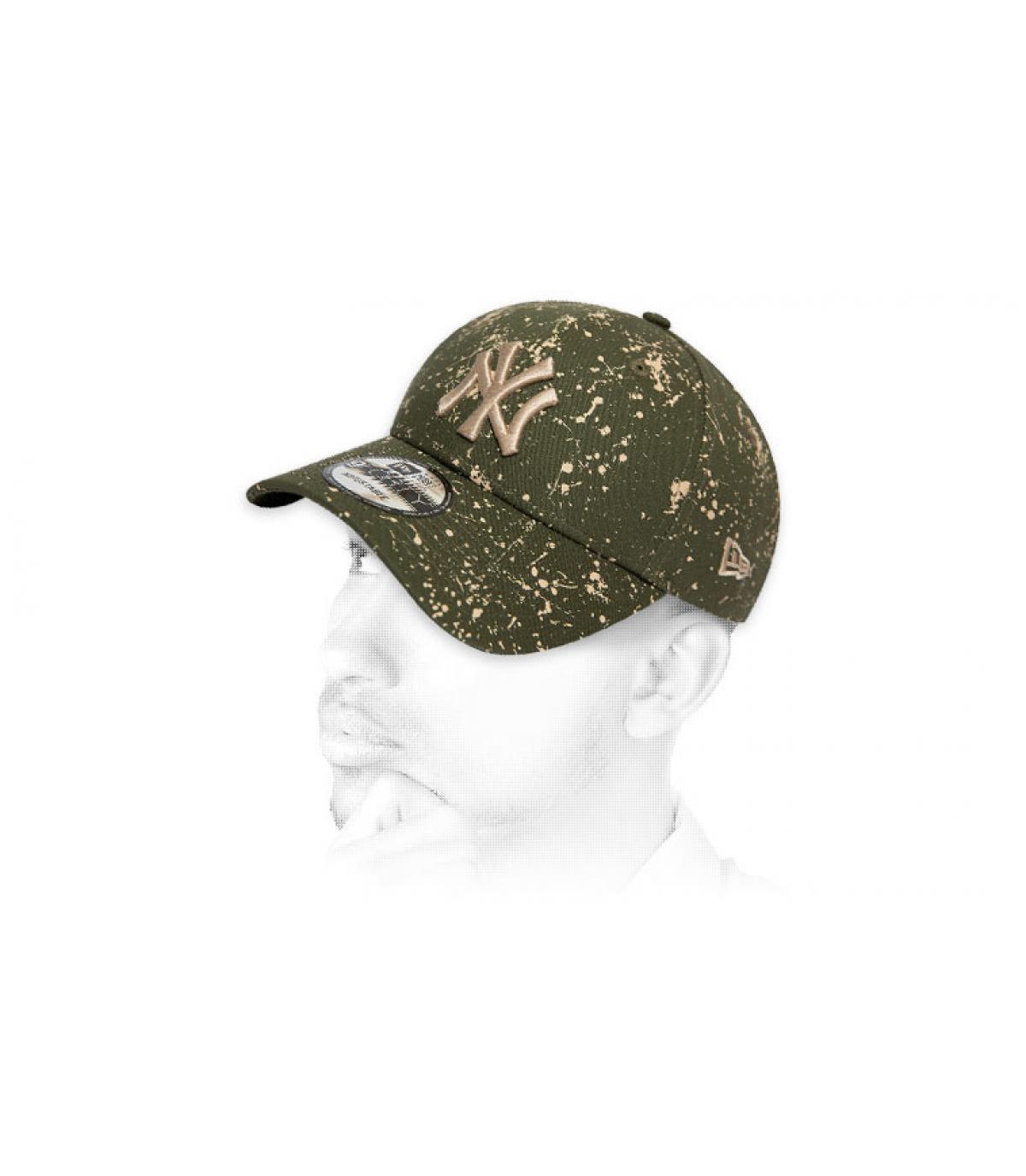 gorra NY estampado verde