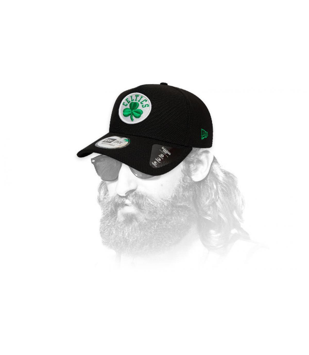 gorra Celtics negro logo
