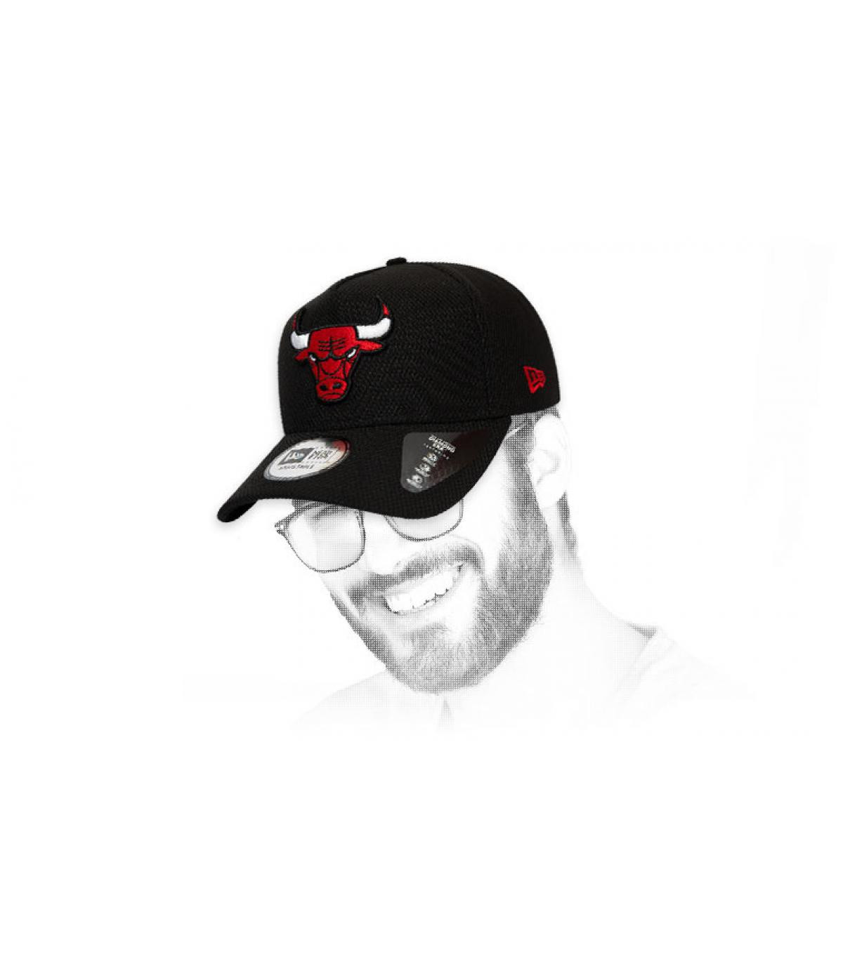 gorra Bulls negro logo