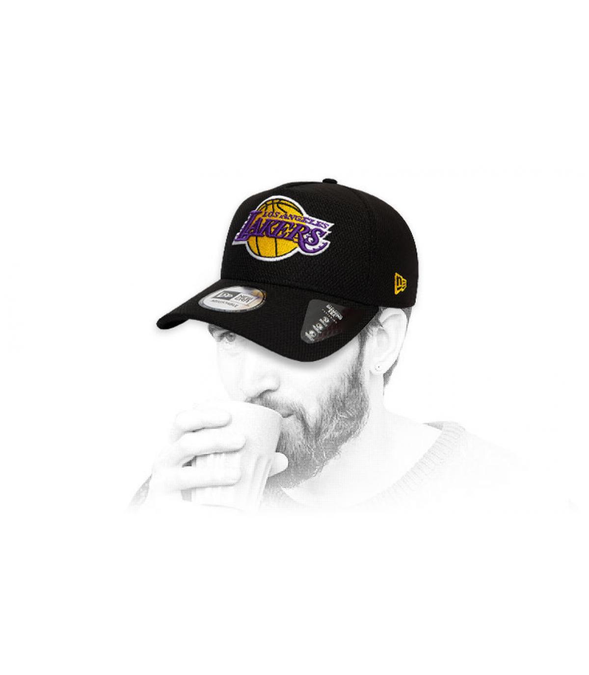 gorra Lakers negro logo