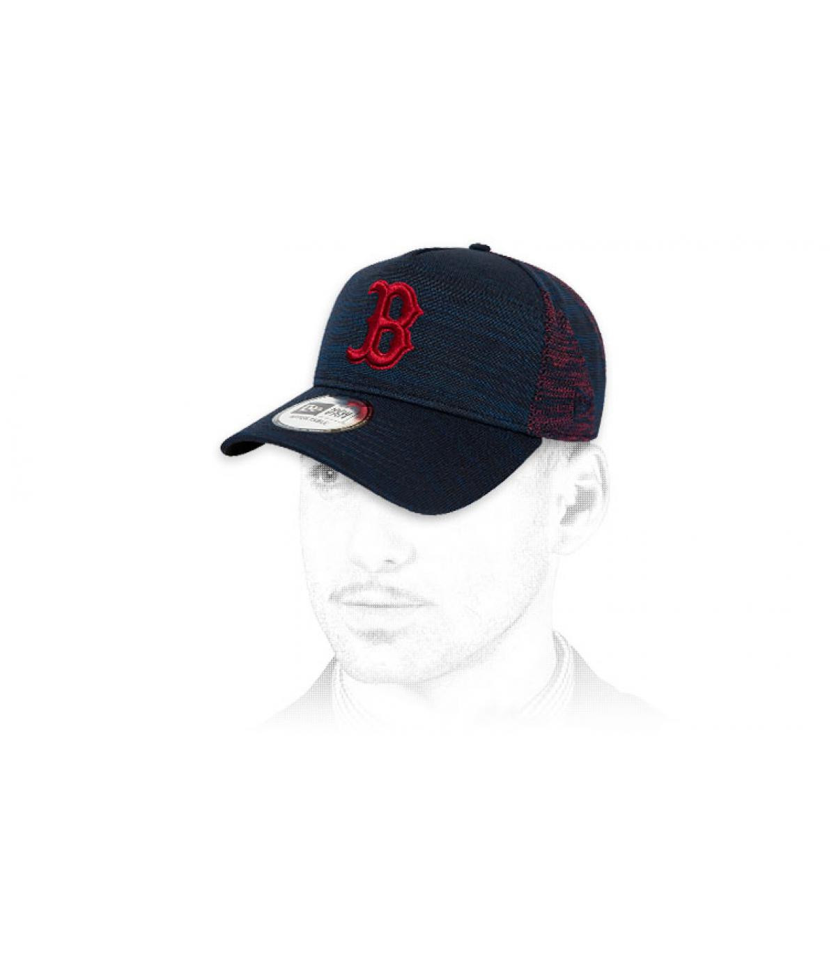 gorra B azul rojo