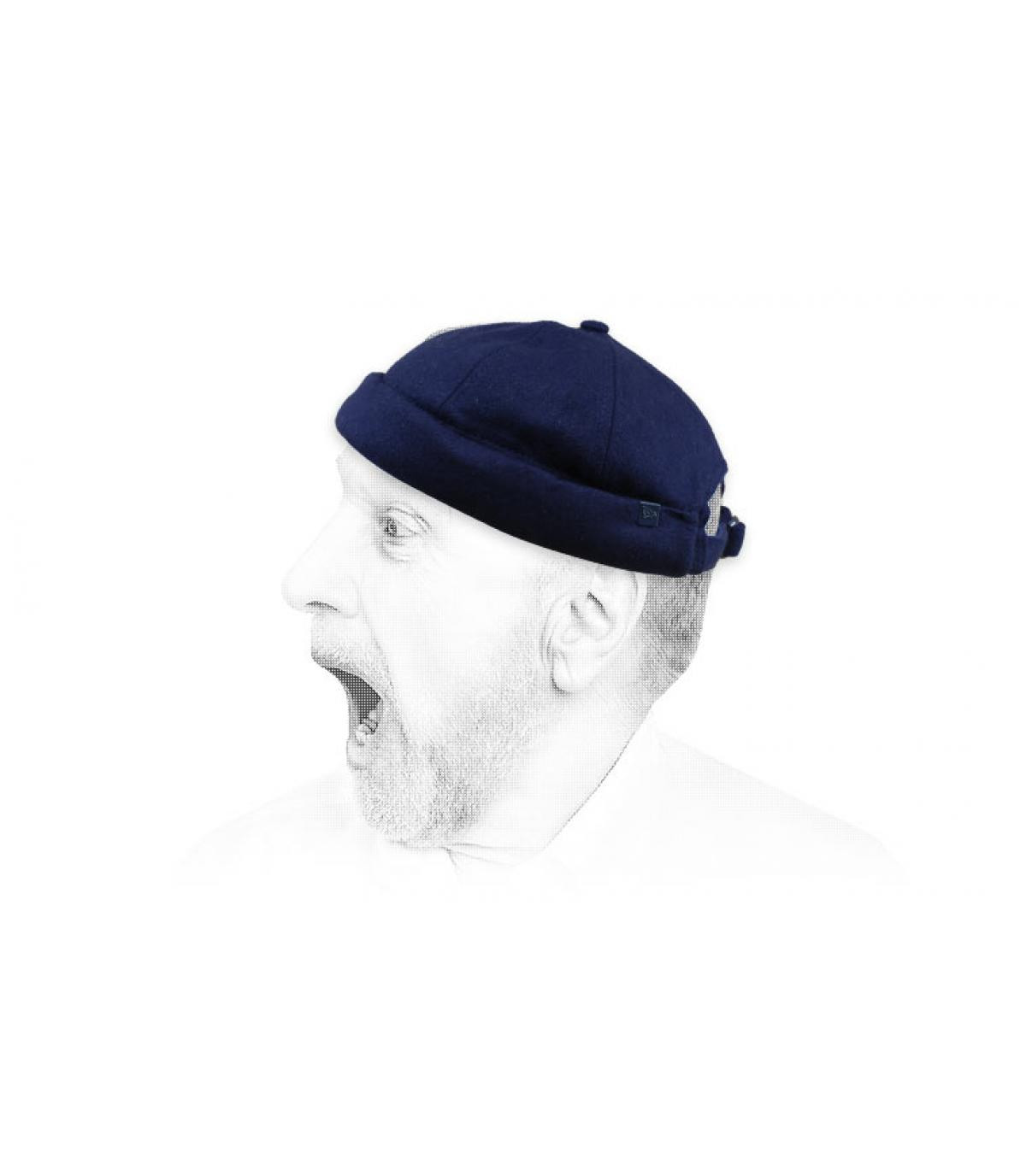 gorro docker azul lana New Era