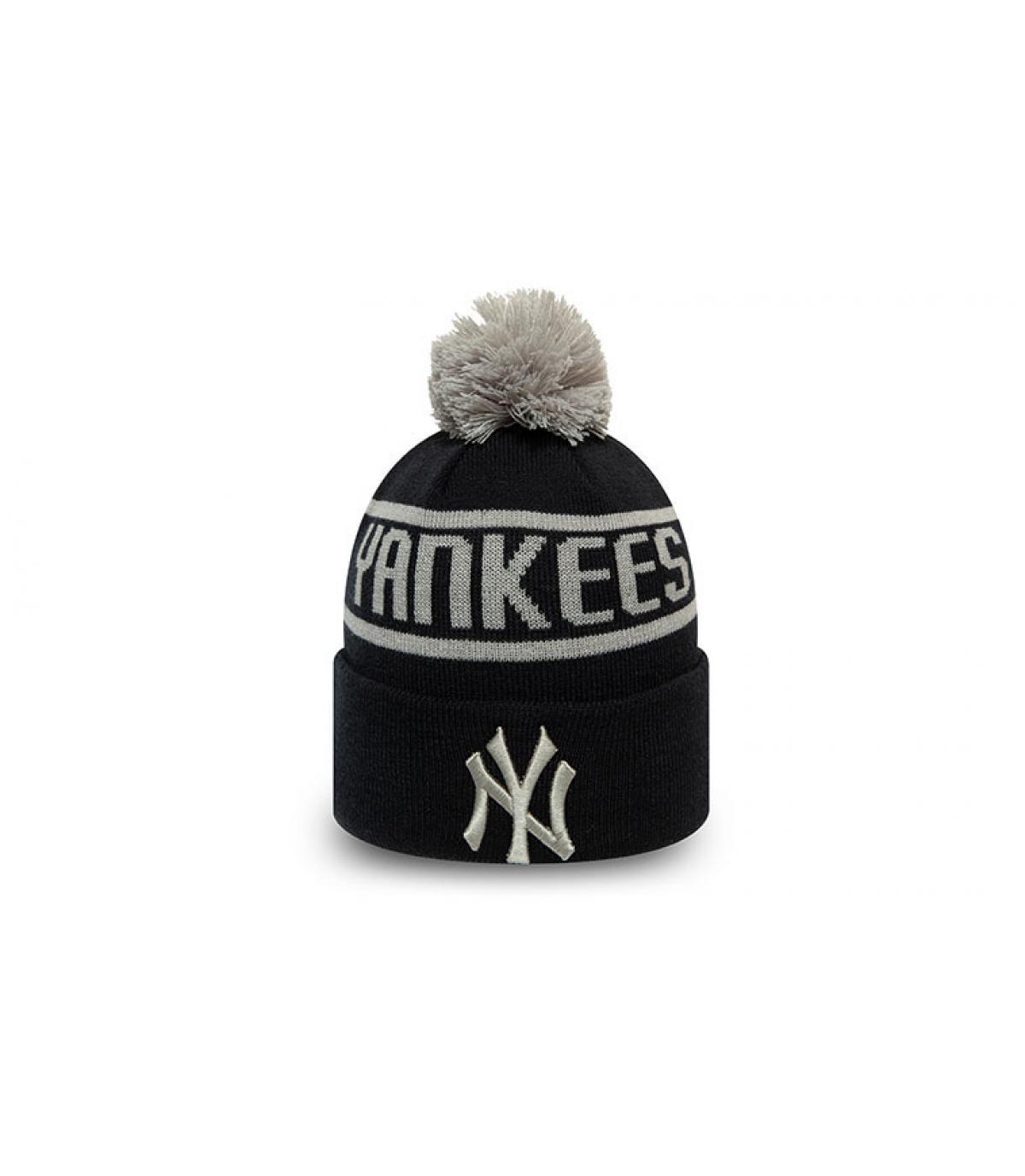 gorro Yankees azul pompón