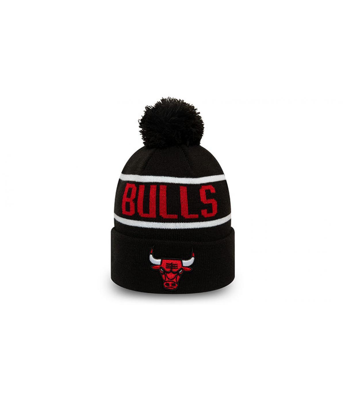 gorro Bulls negro rojo