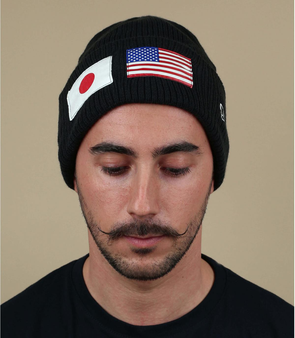 gorro negro bandera USA