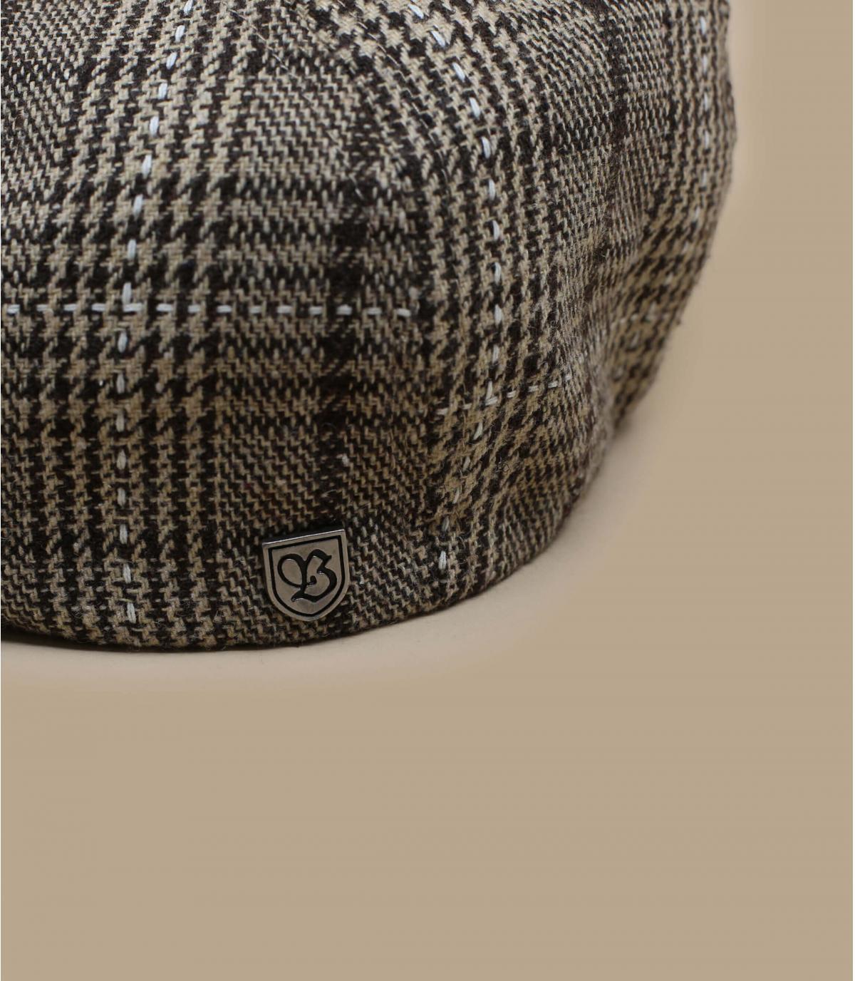 gorra repartidor marrón cuadros
