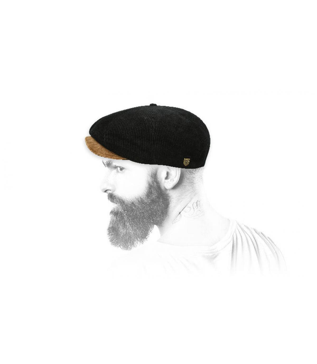 gorra repartidor negro pana