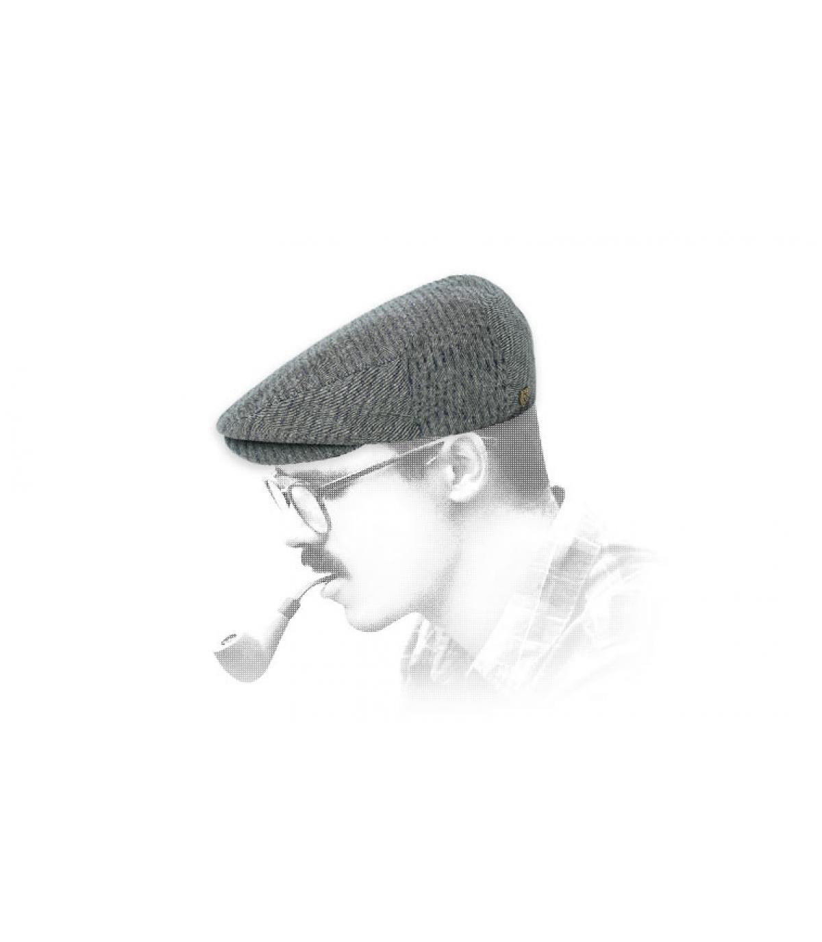 gorra gris algodón Brixton