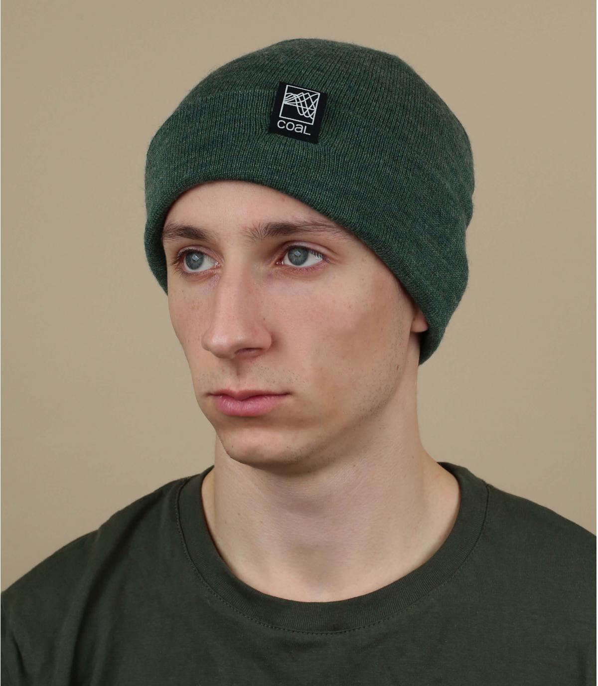 gorro puño verde Coal lana