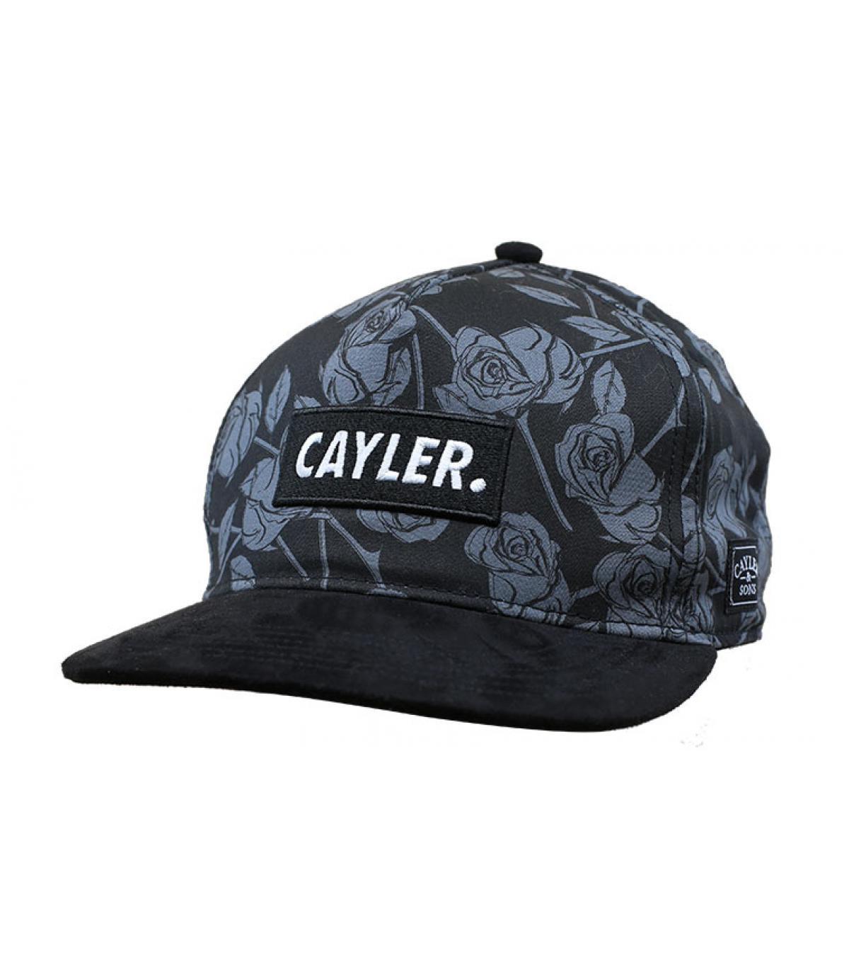 snapback rosas negro Cayler