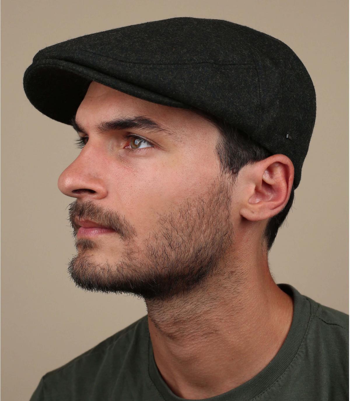 gorra verde lana