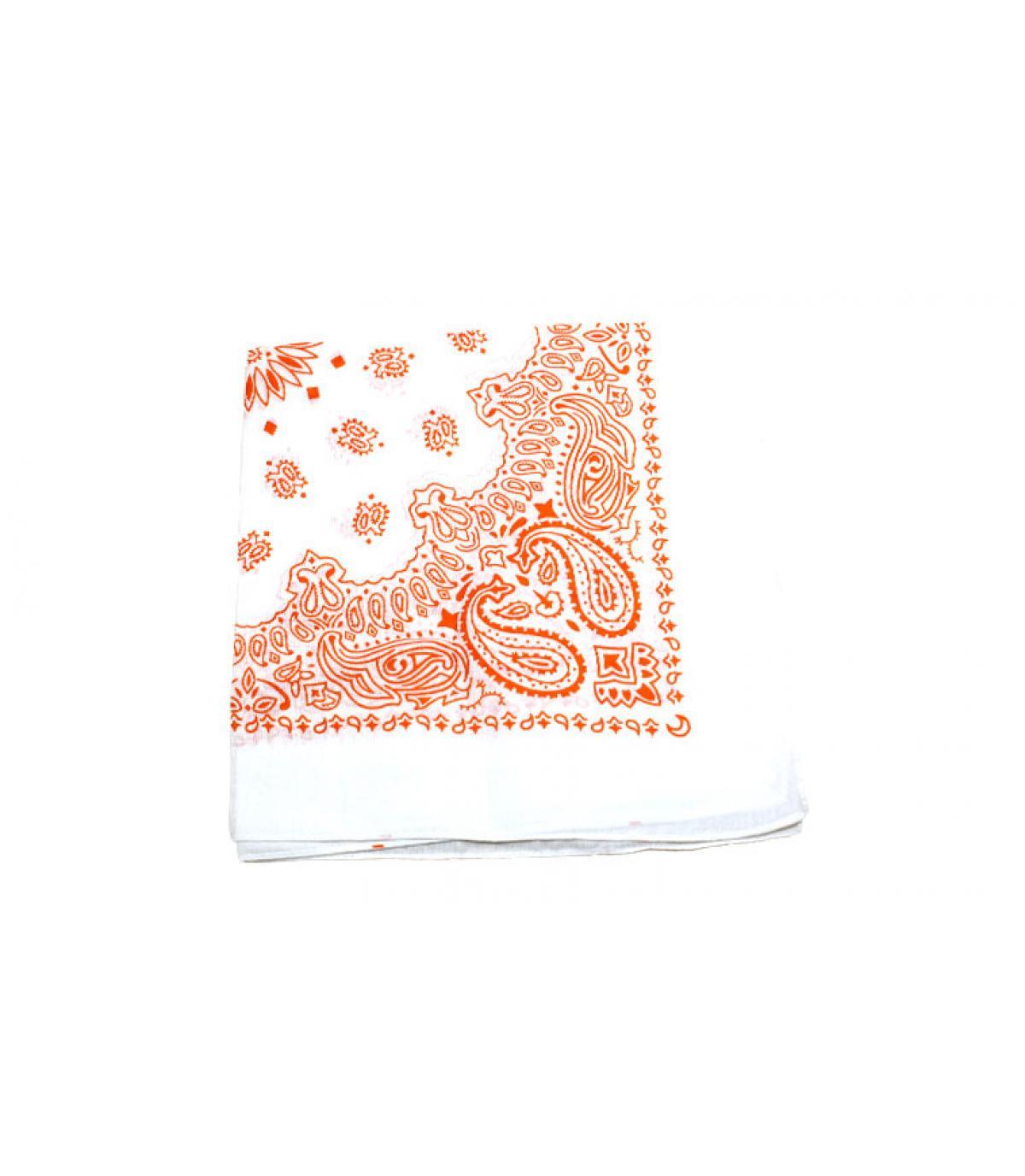 bandana blanco naranja