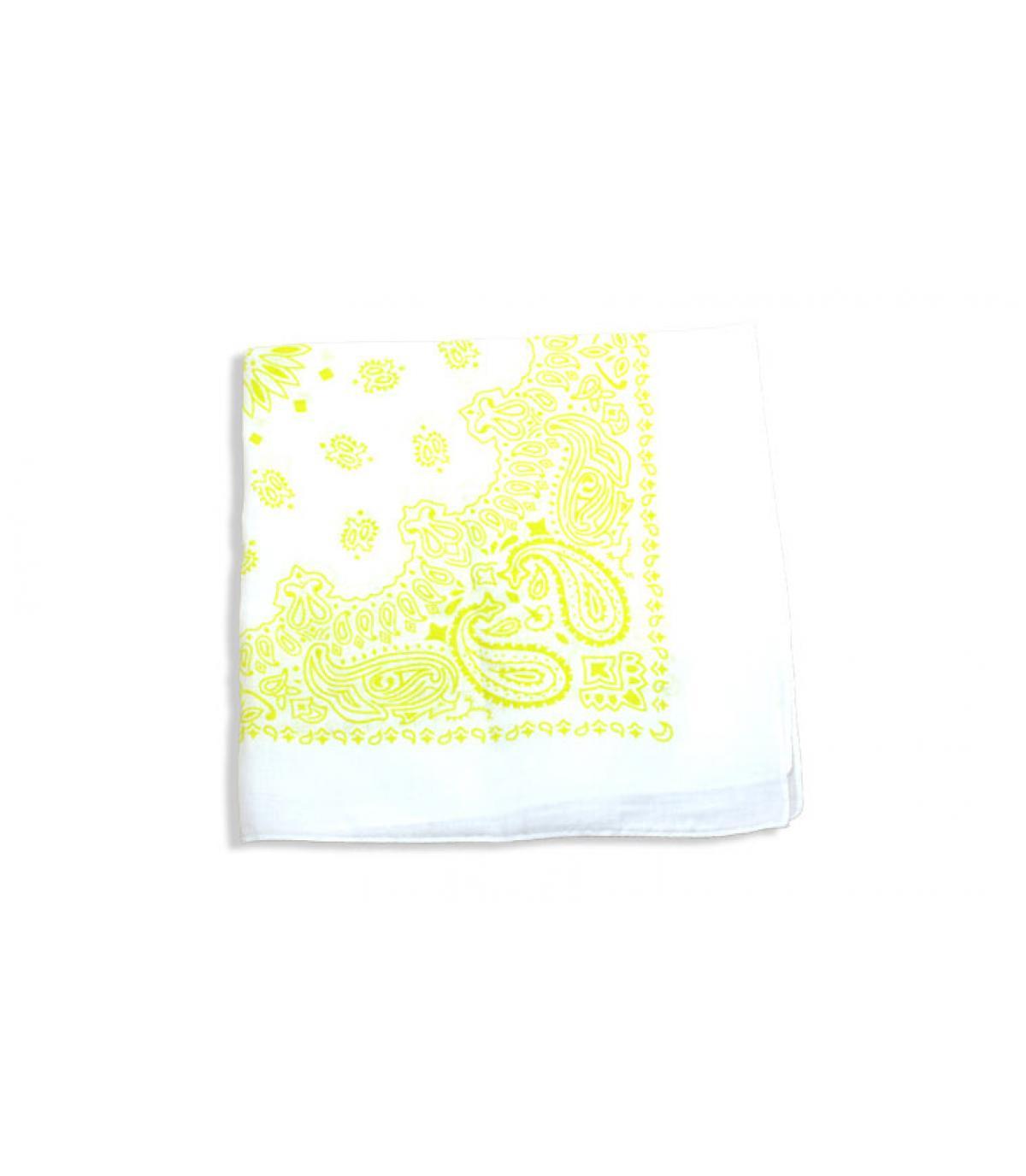 bandana blanco amarillo
