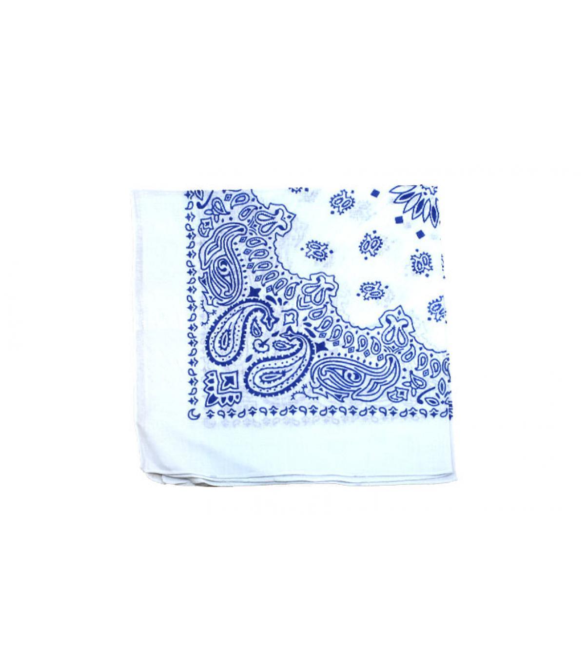 bandana blanco azul