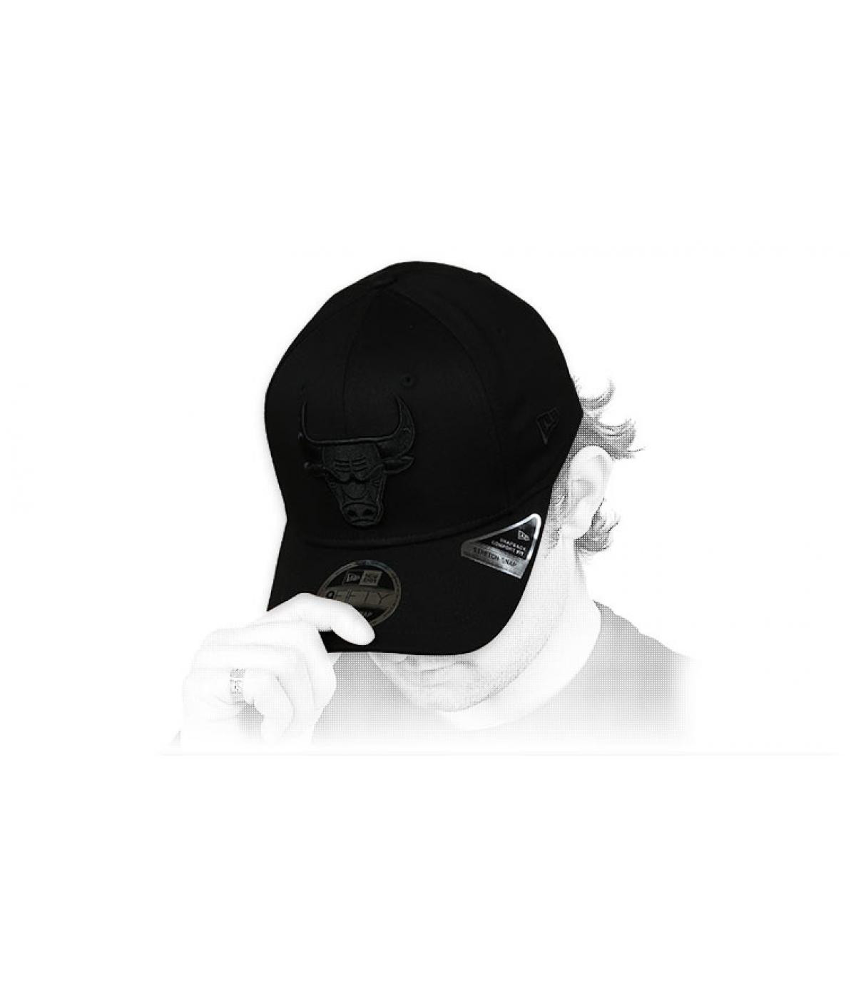 gorra Bulls negro