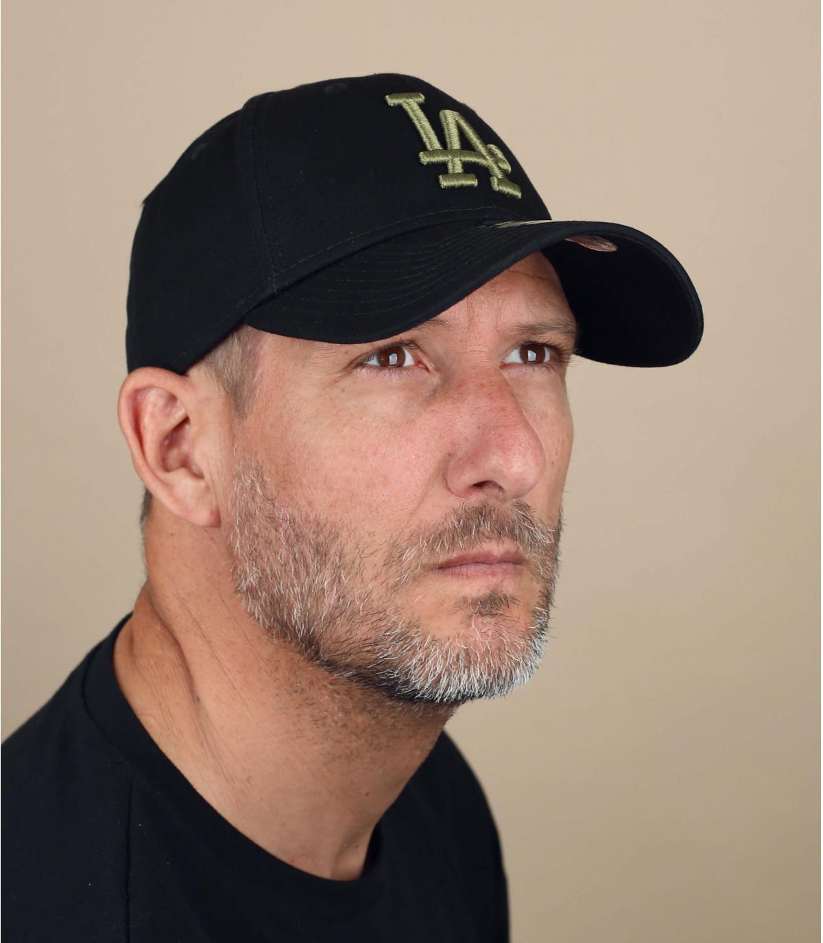 gorra LA negro verde