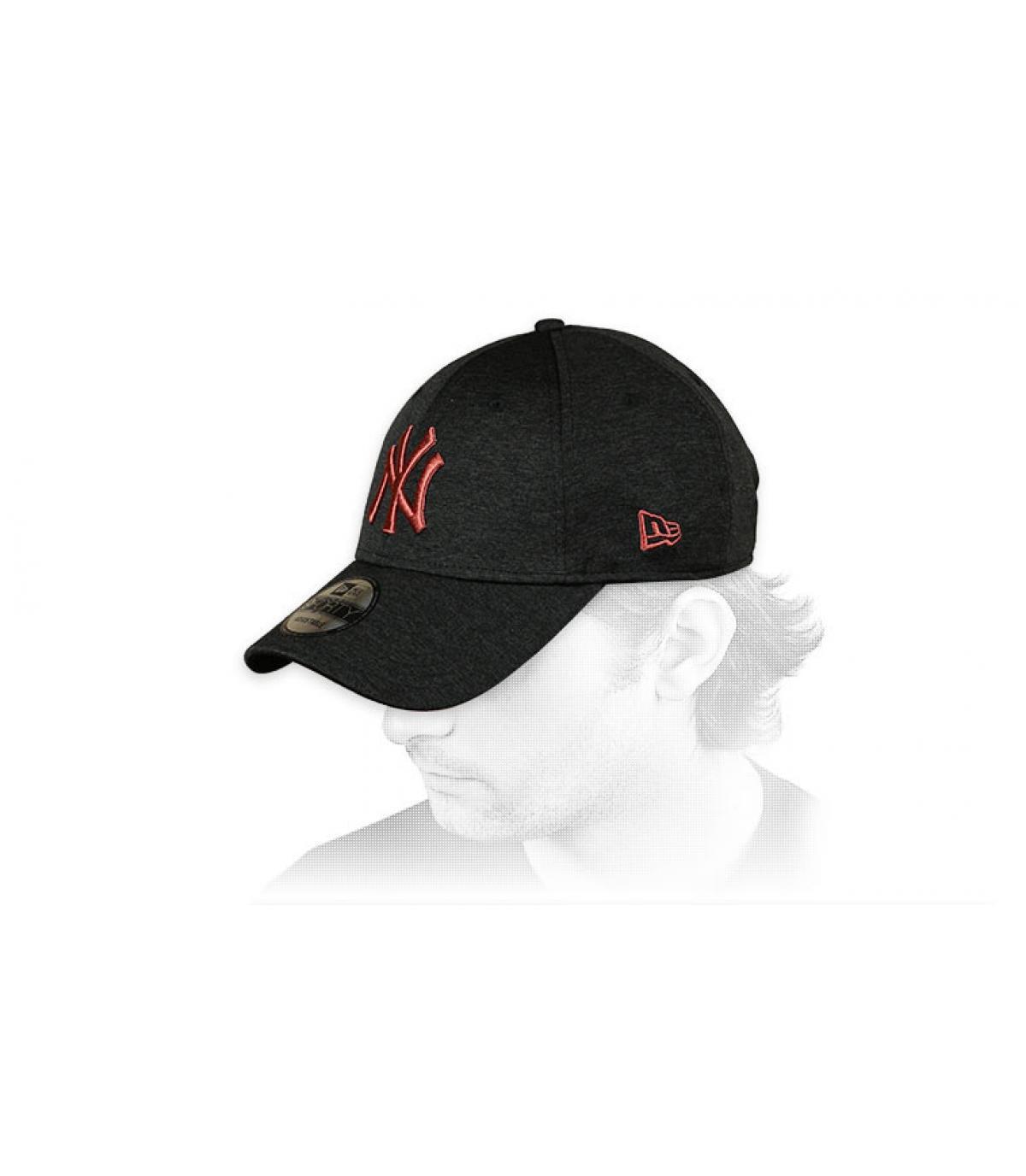 gorra curva NY negro