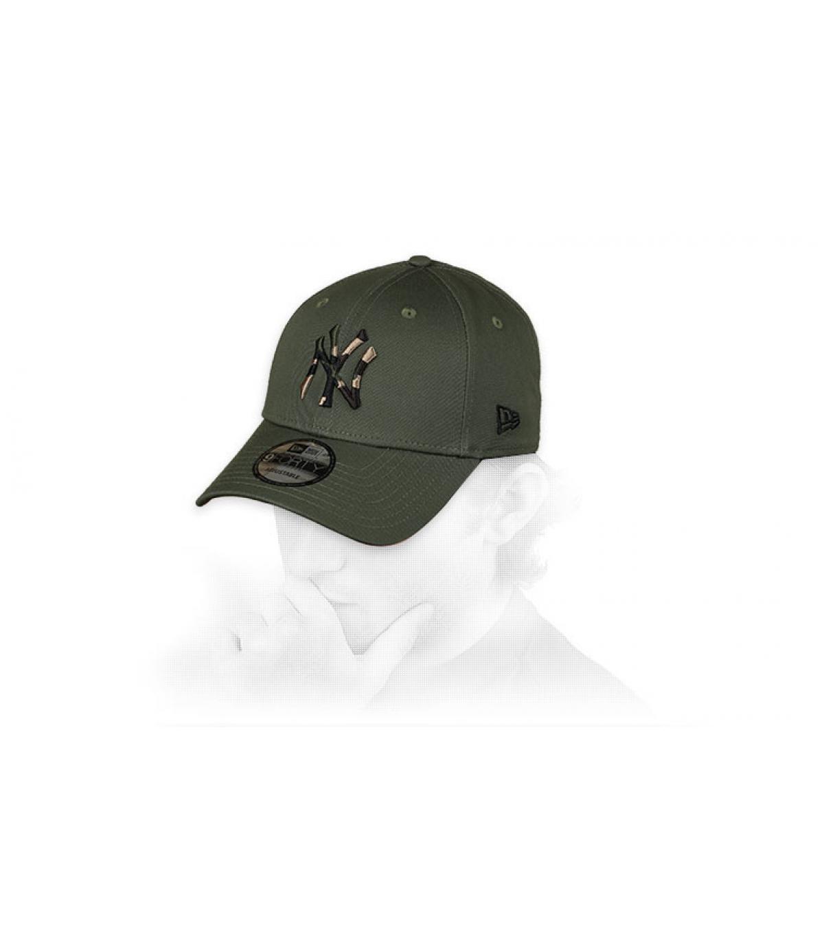 gorra NY verde camo