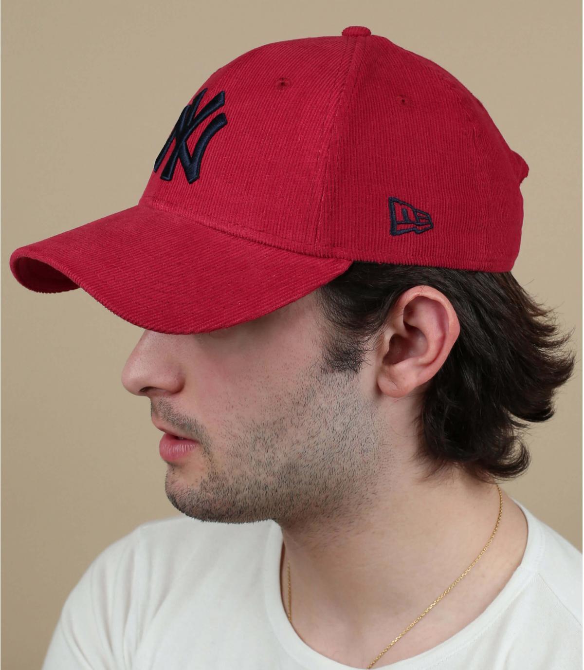gorra NY pana rojo