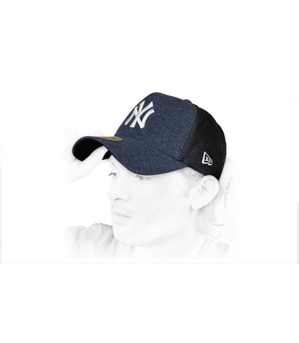 trucker NY azul blanco