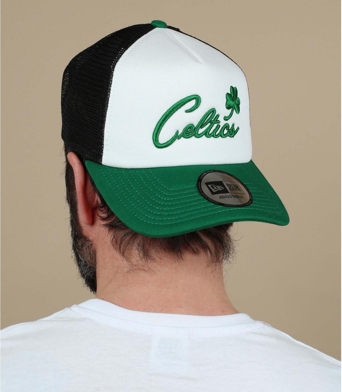 trucker Celtics blanco verde