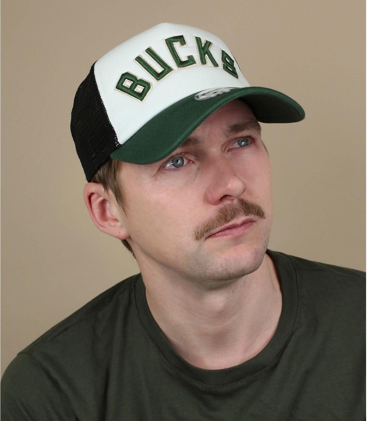 trucker Bucks blanco verde