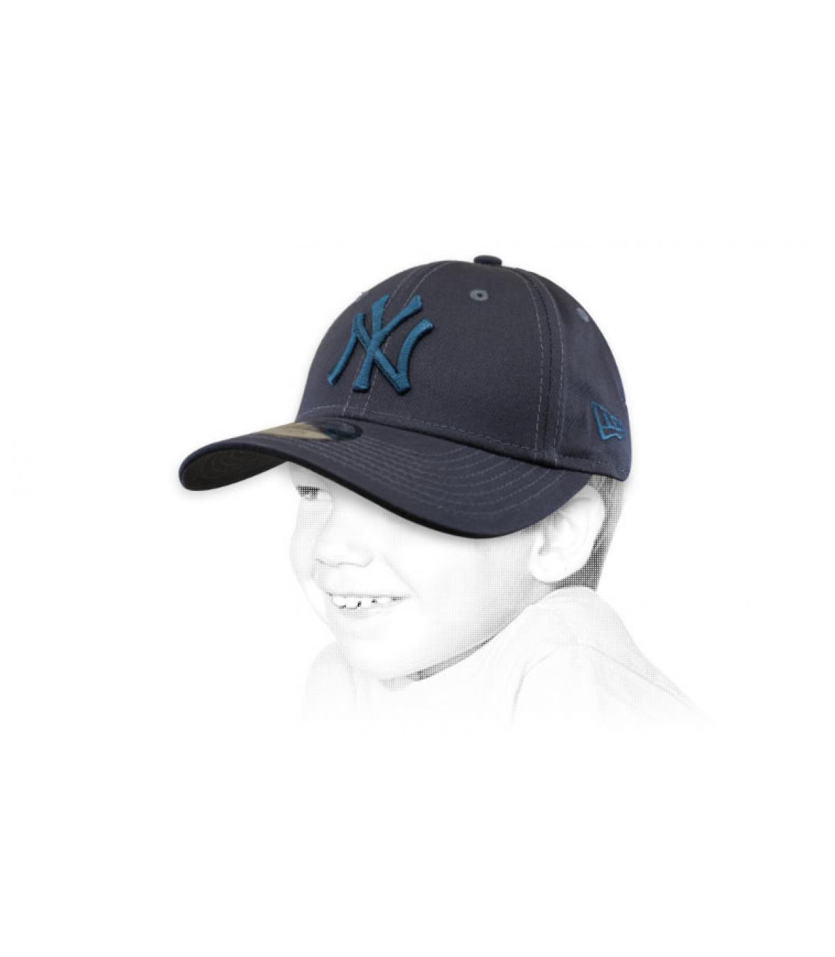gorra niño NY gris