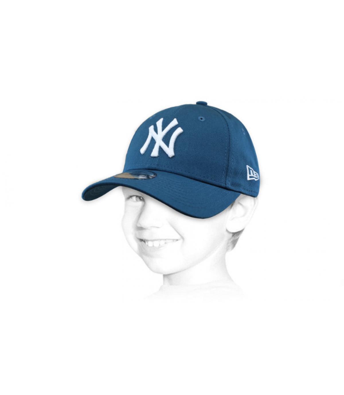 gorra niño azul NY