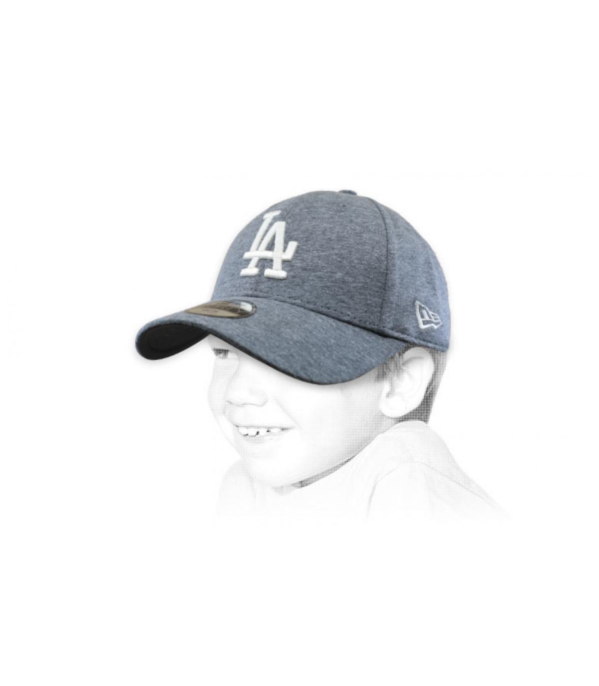 gorra niño LA gris