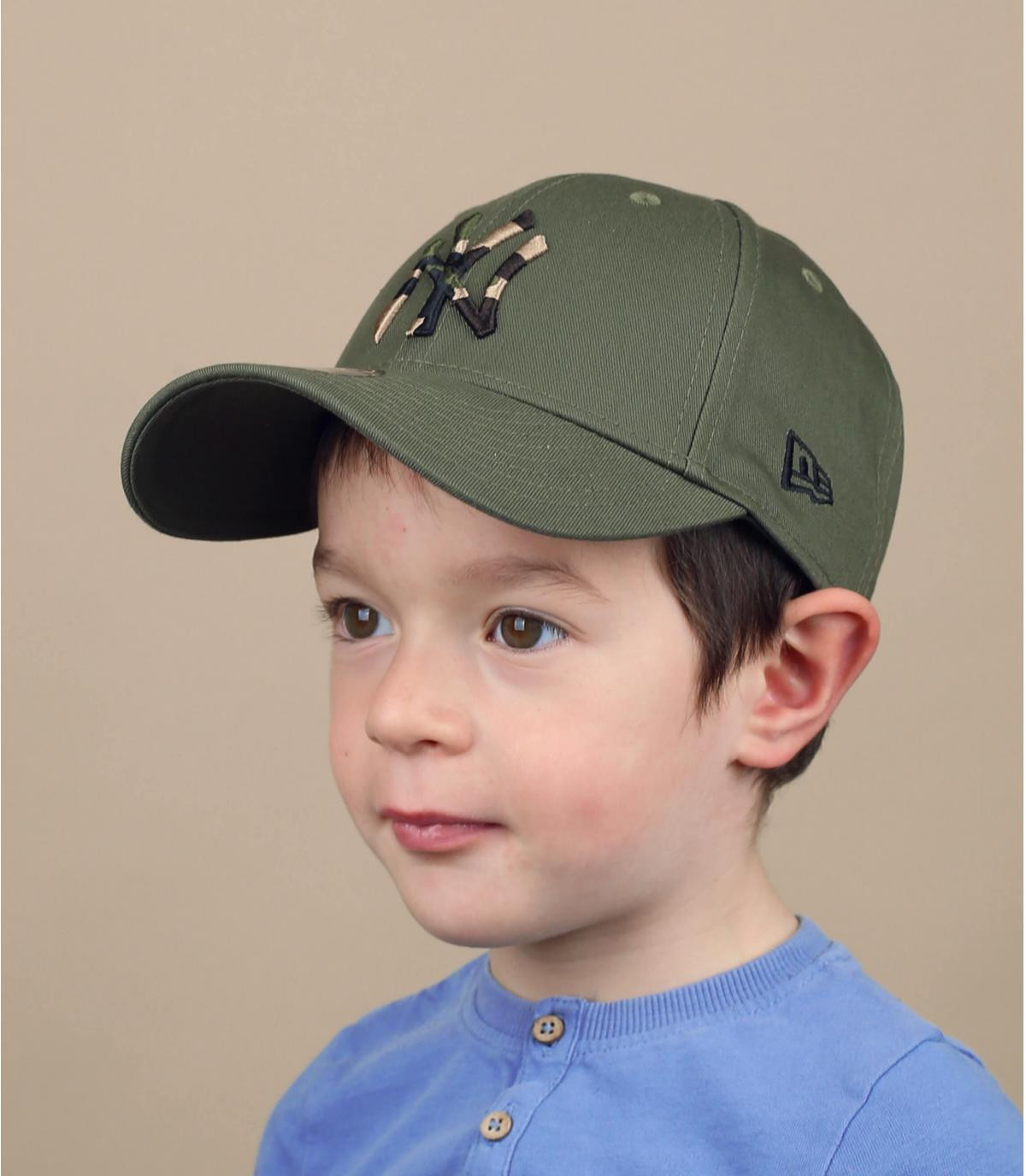 gorra niño NY verde camo