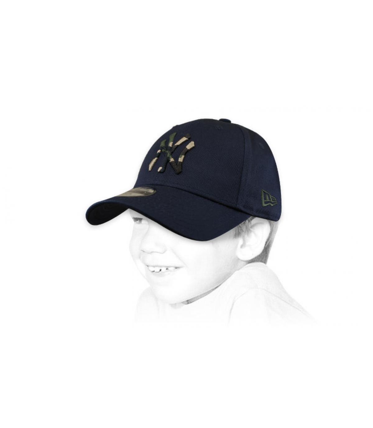gorra niño NY azul camo