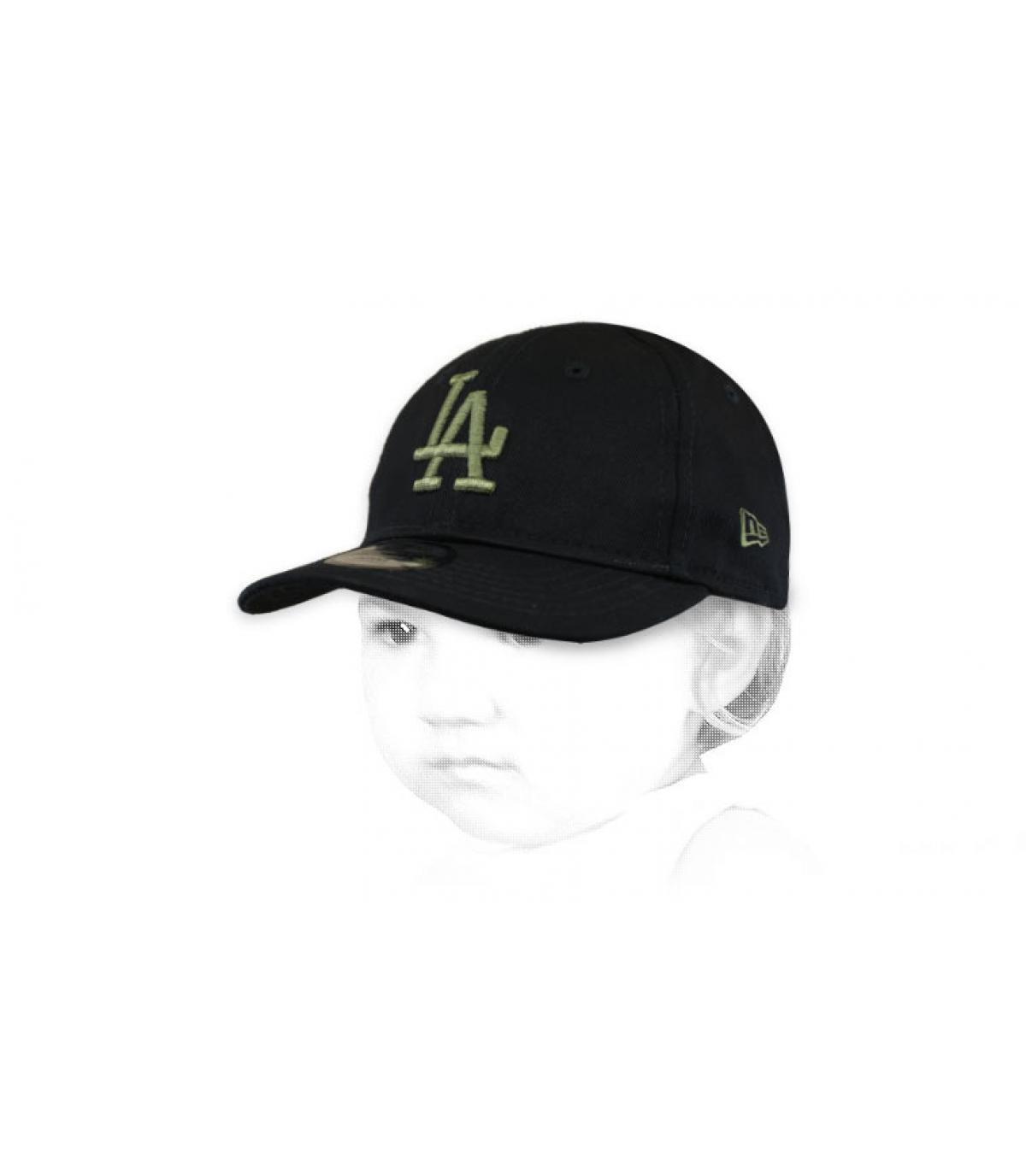 gorra bebe LA negro