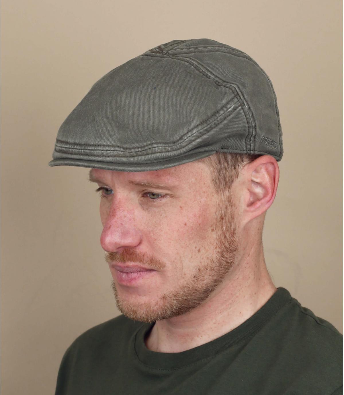 gorra algodón verde Stetson