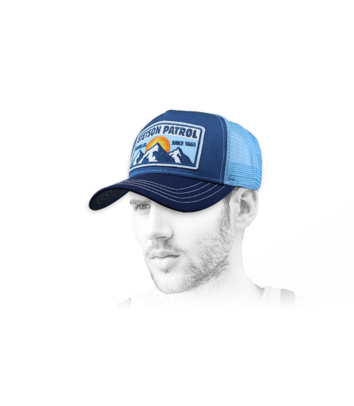 trucker Stetson azul