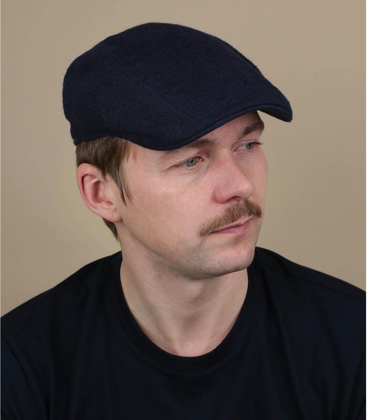 gorra seda lino azul