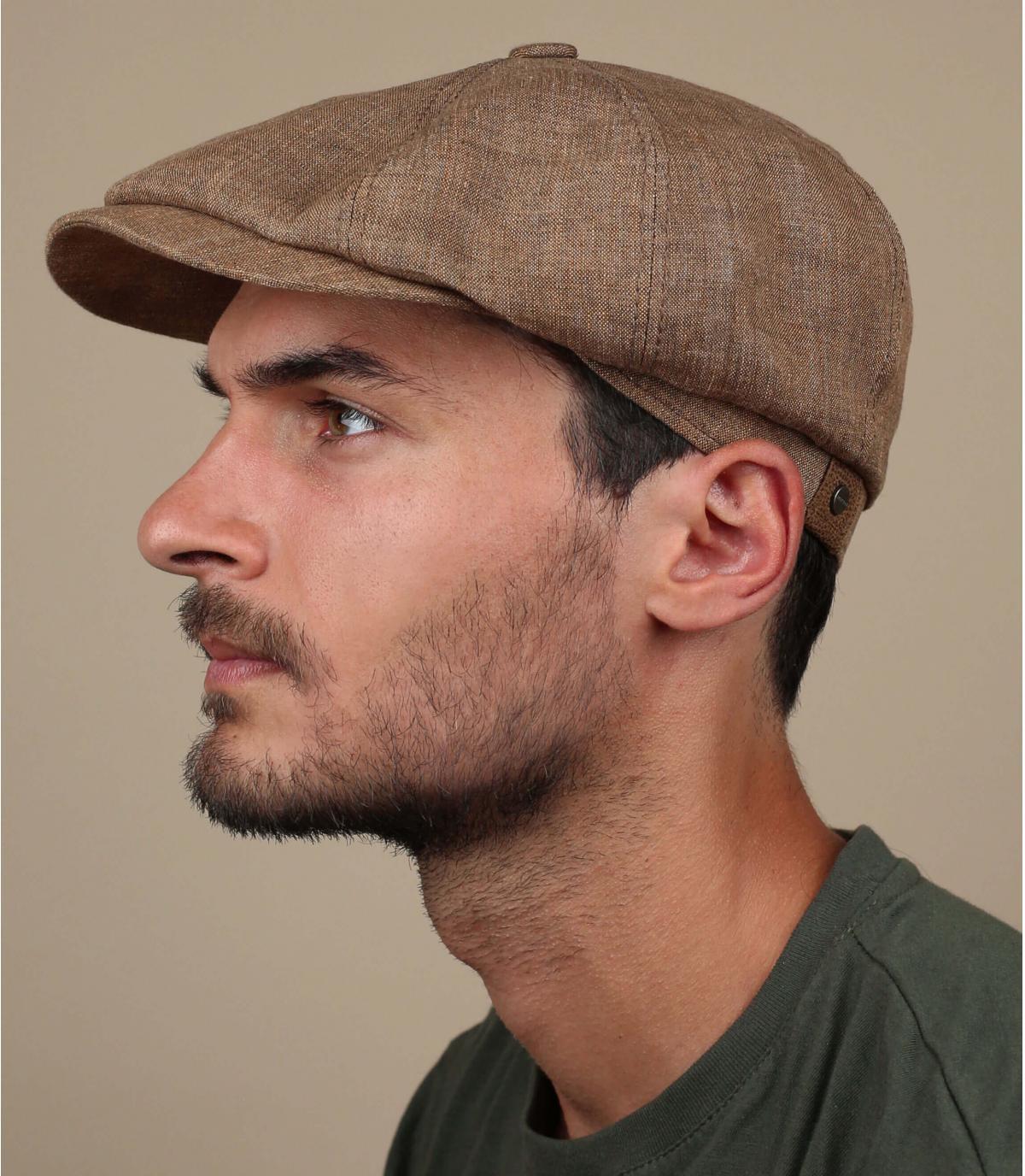 gorra repartidor lino marrón