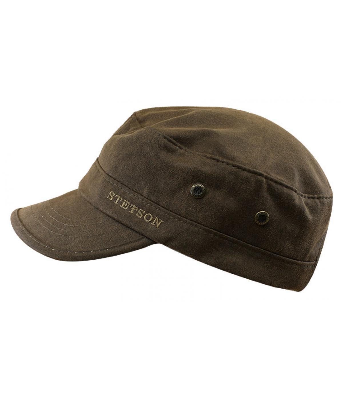 gorra army algodón marrón