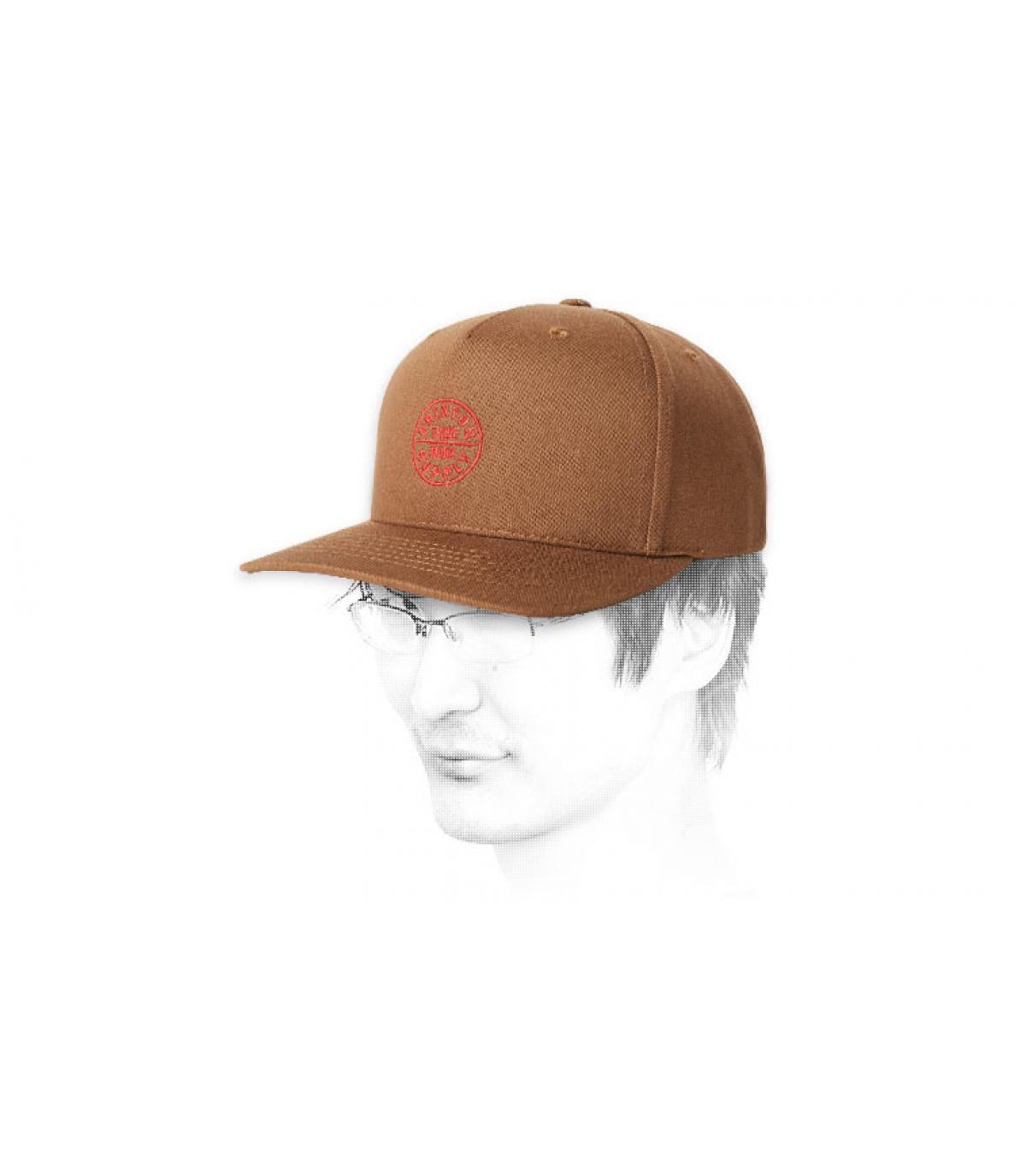 snapback Brixton marrón